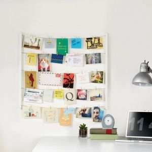Hangit Wall Memo and Picture Frame White