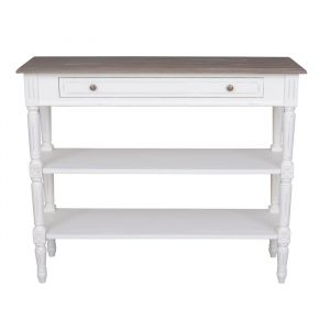 Helena White Console 2 Shelf
