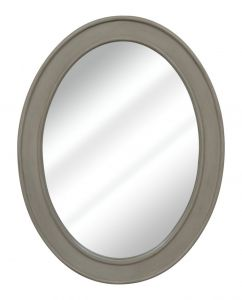Heritage Mirror – Grey with Gold Distress