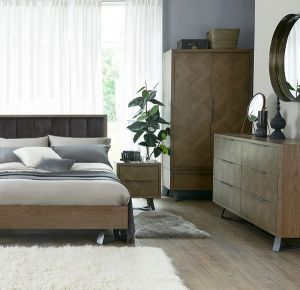 Bed with Padded Headboard