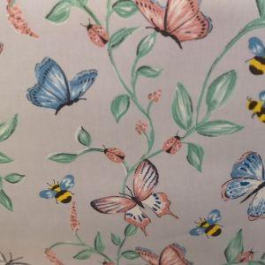 Ladybirds/Butterflies/Bees Oilcloth