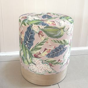Tropical look  Floral stool