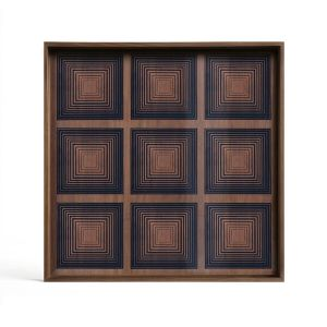 Ink Squares Glass Tray Square Large