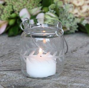 Jar Type Tealight Holder Vines