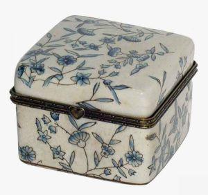 Blue Floral Jewellery Box