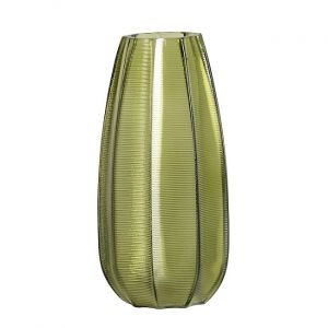 Kali Vase Glass Leaves Low