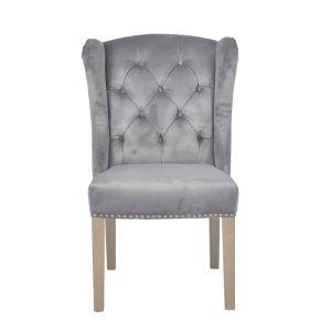 Kansas Velvet Dining Chair Silver