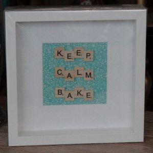 Keep Calm Bake Scrabble Frame