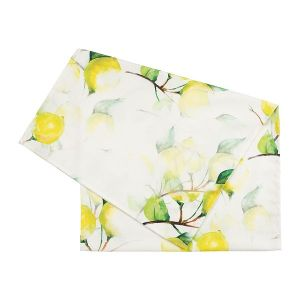 Table Runner Citron Yellow/White