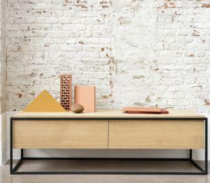 Oak Monolit TV Cupboard 1DRW/1DR - Black