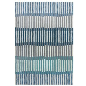 Zest Linear Stripe Denim Rug