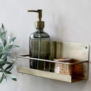 Metal Brass Shelf