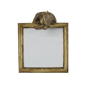 Gold Mirror With Monkey