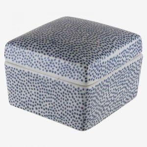 Modern Square Jewellery Box Blue Dots