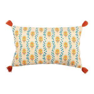 Multicoloured Tassle Edge Cushion