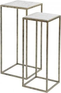 Mylas Marble S/2 Side Table