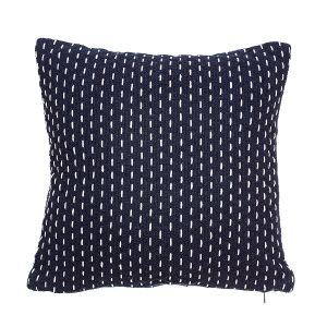 Stitched Navy Cushion