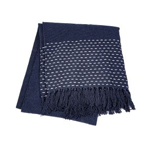 Stitched Navy Throw