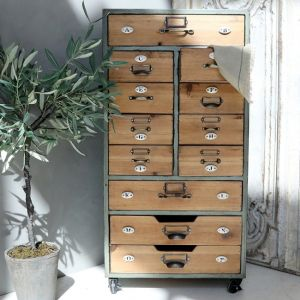 Old French Chest W 12 Drawers