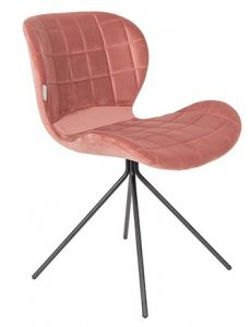 OMG Chair Velvet - Old Pink