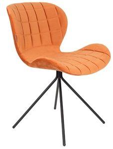 OMG Chair Velvet - Orange