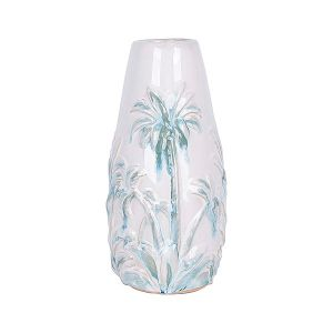 Vase Delicio White/Green Porcelain Tall