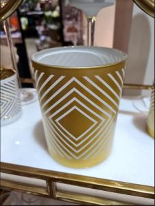 Tealight Holder Rhombus Glass Gold
