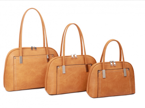 yellow and silver threaded handbag - Large
