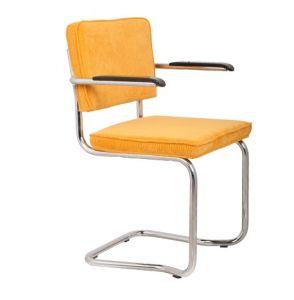 Ridge Kink Rib Yellow 24A Armchair