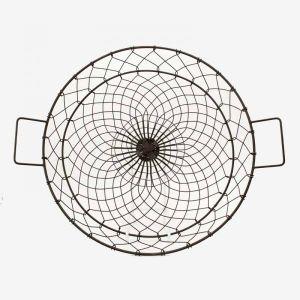 Round Iron Fruit Basket Black