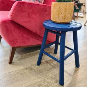 Caytre Bamboo Stool Blue