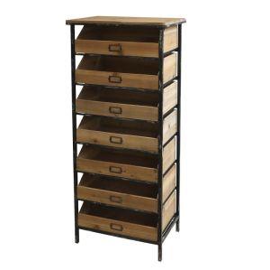 Seven Drawer Wooden Bookcase