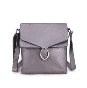 Shoulder Bag Jesica Silver Grey