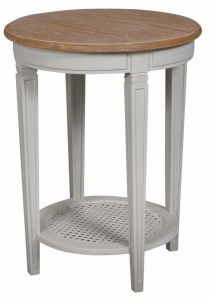 Annabelle Side Table Wood Top
