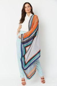 Silk Cashmere Blend Wrap Multi
