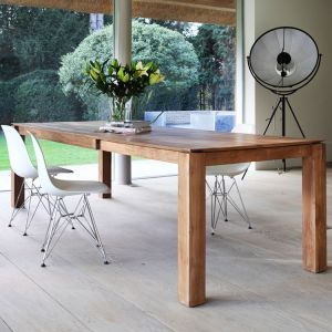 Teak Slice Extendable Dining Table Legs 10x10
