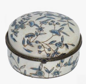 Small Blue Floral Jewellery Box