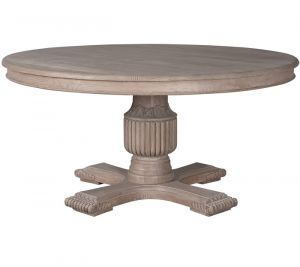 Sofia Round Dining Table Rustic Brown