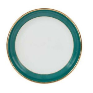 Soup Bowl in an Emerald and Gold Colour