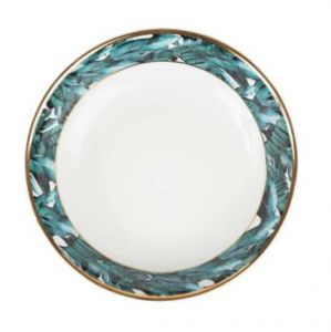Soup Plate Jungle in Gold and Emerald