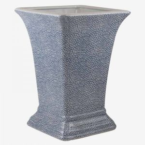 Square Vase With Blue Dots