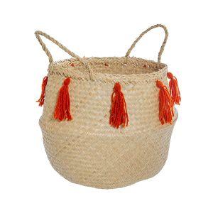 Terracotta Tassel Basket