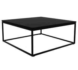 Oak Thin Coffee Table - Black