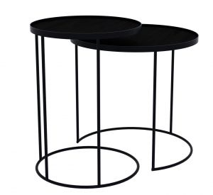 Round Tray Table Bases S/2 High