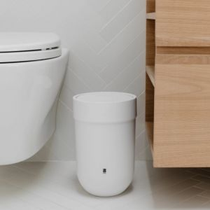 Touch Waste Can With Lid White