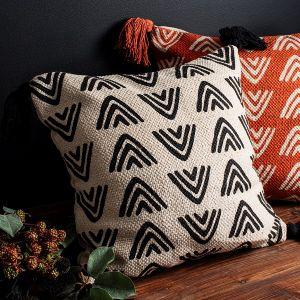 Triangle Block Print Cushion