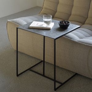 Triptic Side Table Lava Taupe Wide