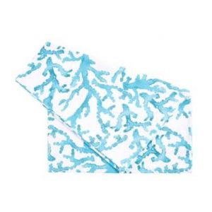 Turquoise and White Table Runner Estran