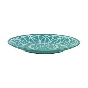 Turquoise Melia Porcelian Dessert Plate