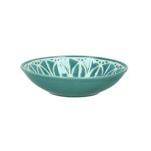 Turquoise Melia Porcelian Soup Plate